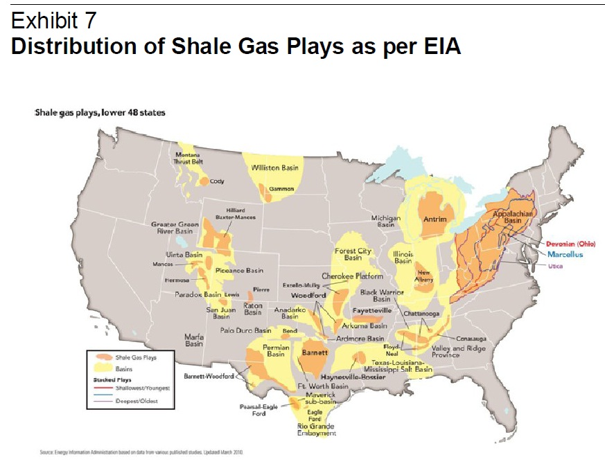 Shale Gas Investmentpedia - Us shale plays map eia